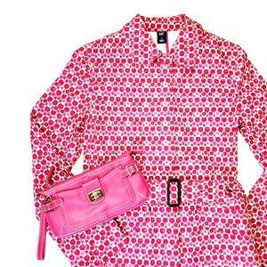 Gap pink and white trench coat / rain jacket, sz S